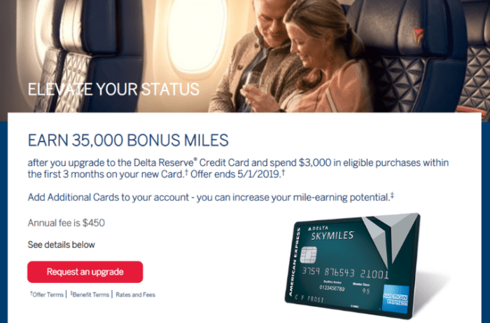 Upgrade Offer for Amex Delta Reserve