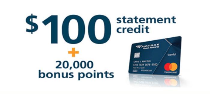 Bank of America Amtrak Card bonus