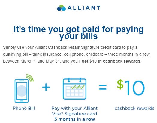 alliant pay bills bonus