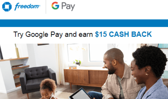 chase google pay $15