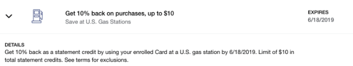 Gas Amex Offer