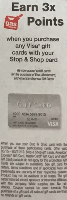 stop shop visa gift card deal