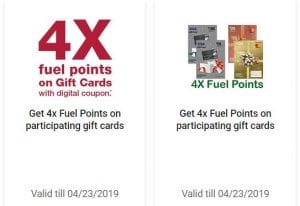 Harris Teeter 4x fuel points