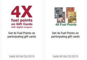 Harris Teeter 4x fuel points