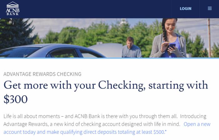 ACNB Bank bonus