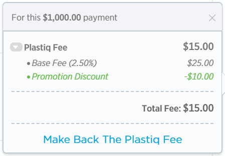 New Plastiq Promo, 1.5% Fee for Mastercard Payments