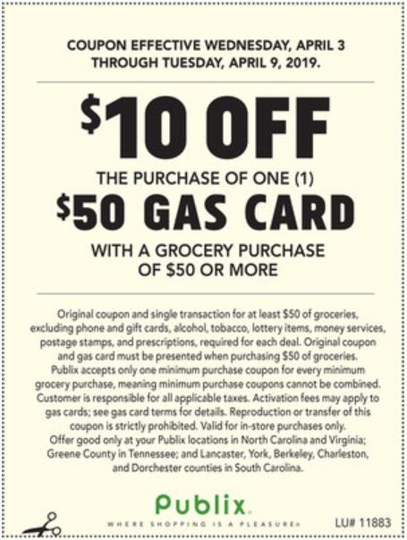 publix gas gift card deal