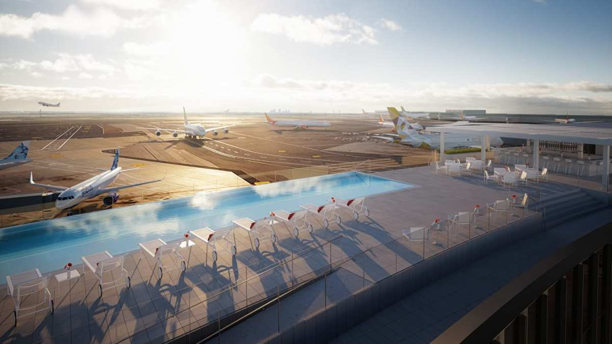 TWA Hotel at JFK Will Have Rooftop Infinity Pool Above the Runway