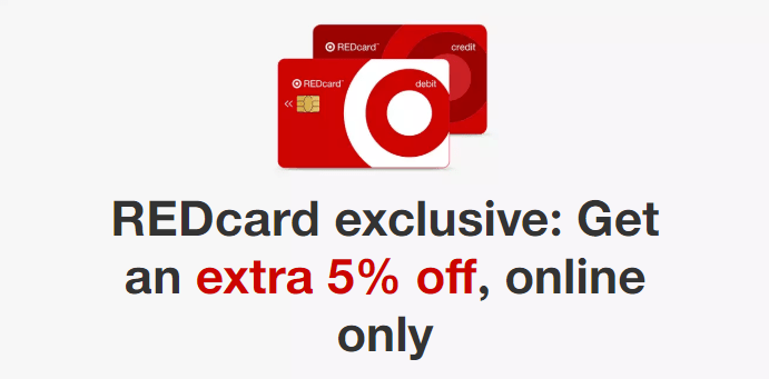 Target REDcard Exclusive, Get Extra 5% Off Online till April 27th
