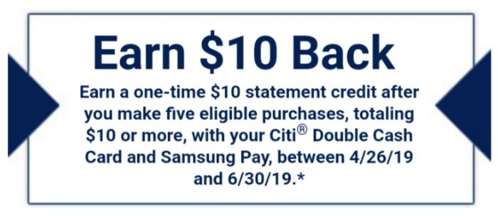 citi double cash samsung pay