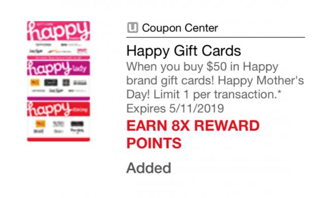 safeway 8x happy gift cards