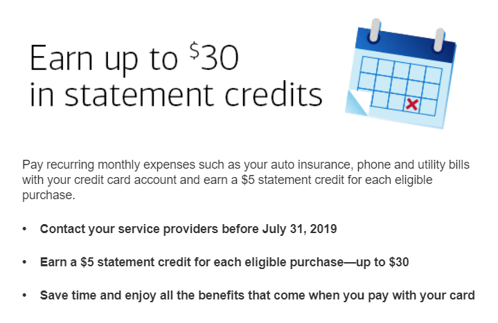 Bank of America, Get $5 for Paying Monthly Recurring Bill (up to $30)