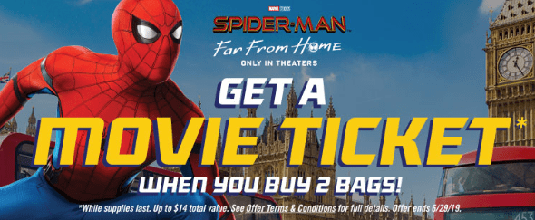 Free Tickets to Spider-Man: Far From Home Movie with Doritos Codes