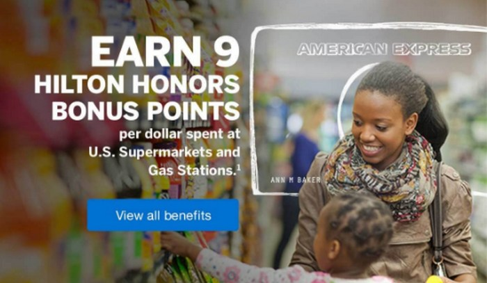 amex hilton 9x supermarkets gas stations