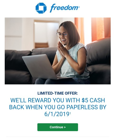 chase paperless bonus