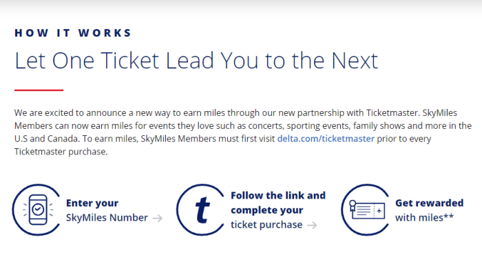 Earn Delta SkyMiles on Ticketmaster Purchases