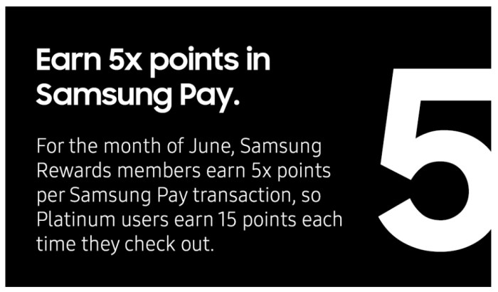 Earn 5x Points in Samsung Pay in June