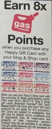 Stop&shop happy gift cards