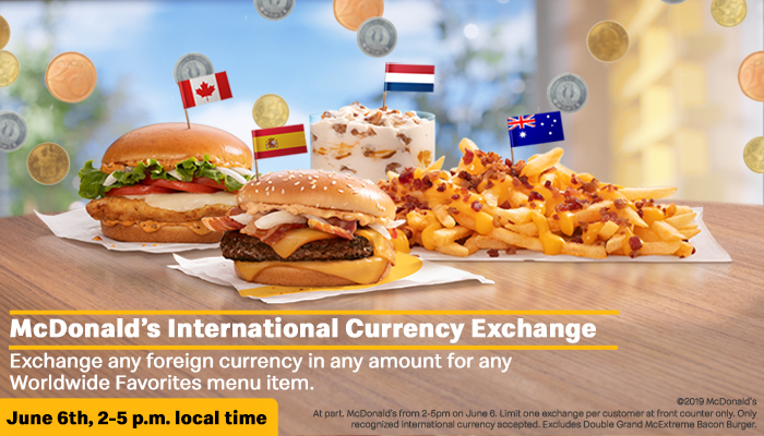 mcdonald's foreign currency
