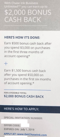 chase ink unlimited 2k bonus