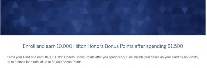 Amex Hilton Spending Offer