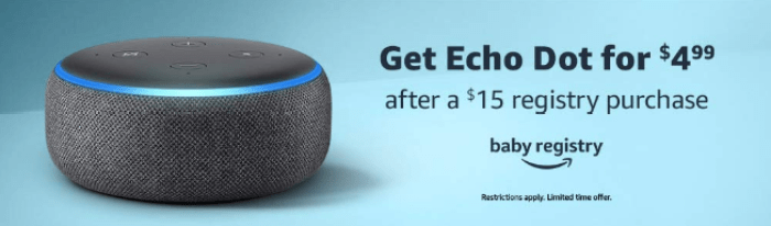 amazon baby registry echo dot