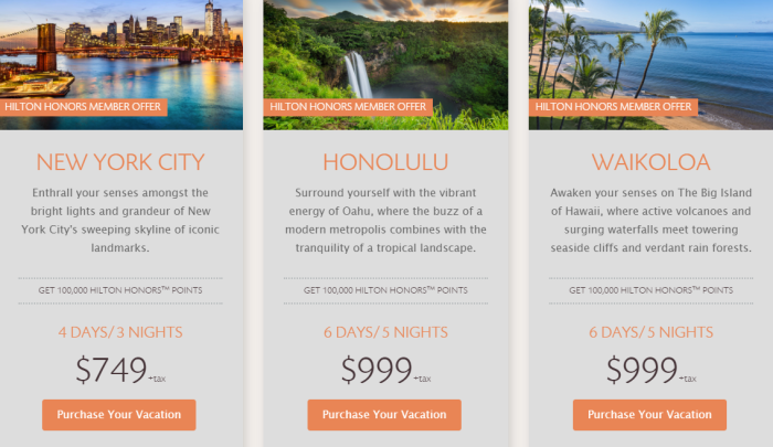 Hilton Time Share Offers for NYC and Hawaii