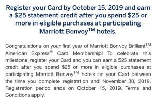 marriott bonvoy brilliant $25