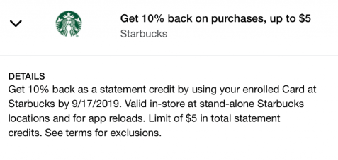 Starbucks Amex Offer