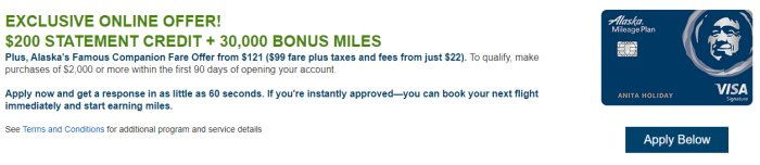 Alaska Airlines Card Bonus