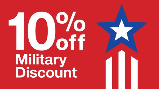 target military discount