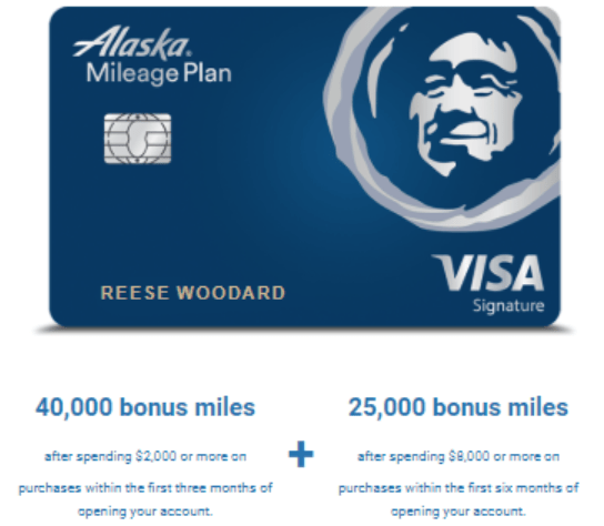 Alaska Card 65K bonus