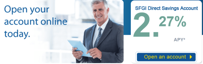 SFGI Direct savings account