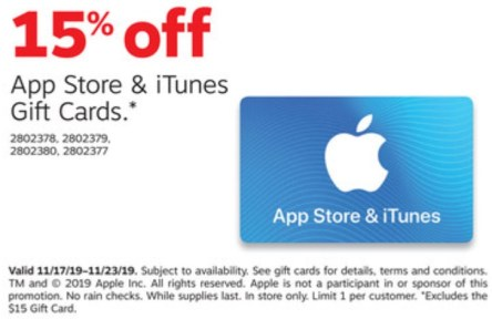 staples itunes deal