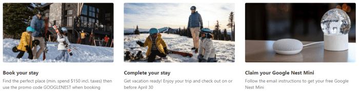 booking.com Free Google Nest Mini