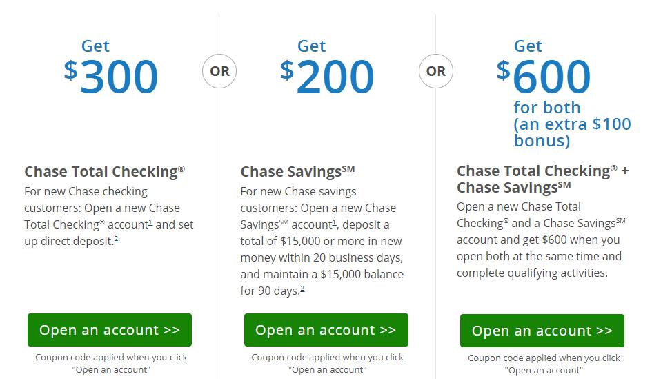 Chase 600 Bonus For Checking And Savings Danny The Deal Guru