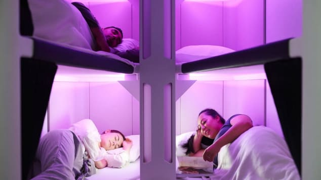Air New Zealand Bunk Beds