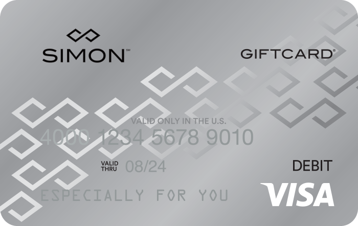 Simon Mall Visa Gift Cards, Free Shipping and 10% Fee Discount