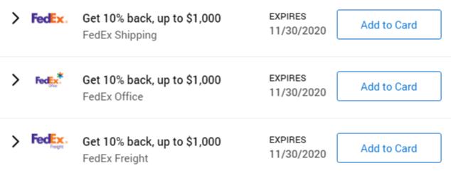 Fedex Amex Offers