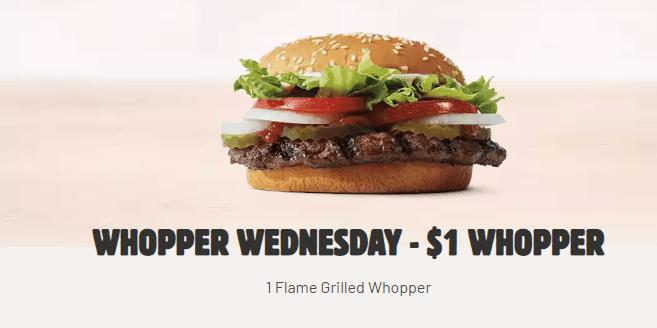 $1 Whopper Wednesday