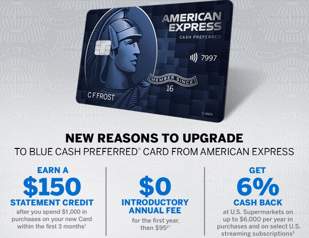 Amex Blue Cash Preferred Upgrade Offer