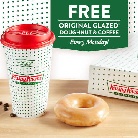 Krispy Kreme Free Coffee and Doughnut