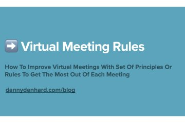 Virtual Meeting Rules
