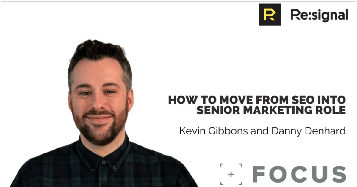 How To Move From SEO Into A Senior Marketing Role Podcast