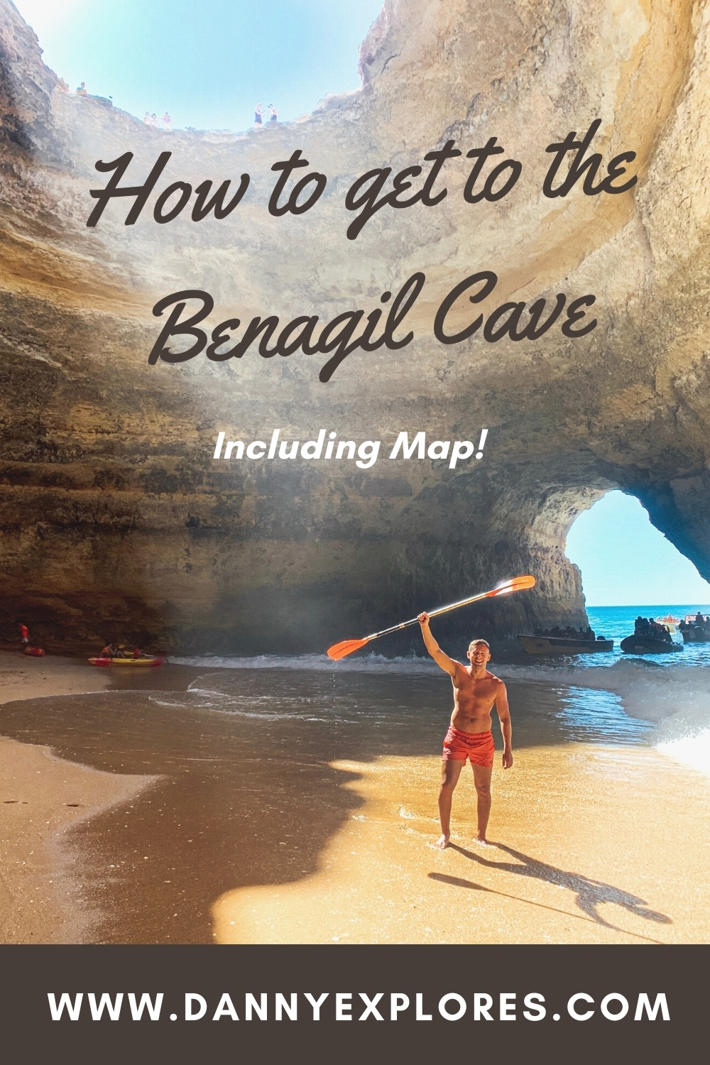 Benagil Cave with map PINTREST