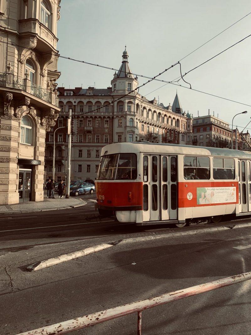 Tram in Prague Old Town
