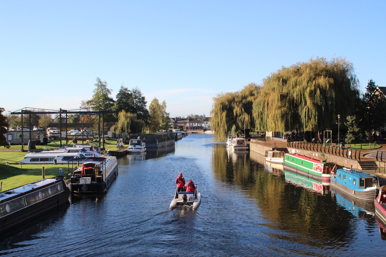 Ely riverfront - Cambridgeshire in autumn