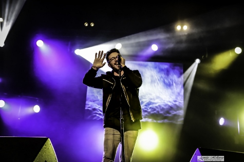 Danny Gokey performing on the Be One Tour 2016