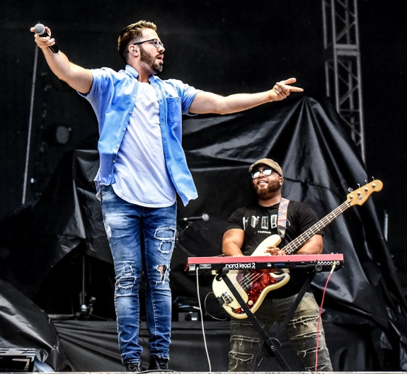 Danny Gokey performs at Uprise Fest