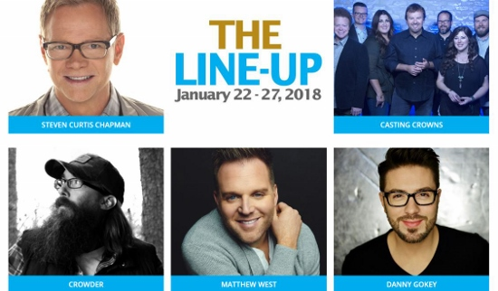 Artists performing on the 2018 K-LOvE Cruise includes Crowder, Casting Crowns, Danny Gokey more